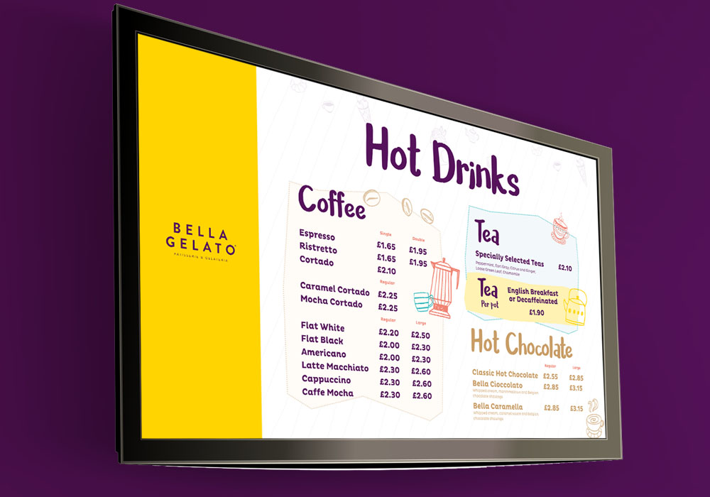 Bella Gelato - Television Graphics Essex