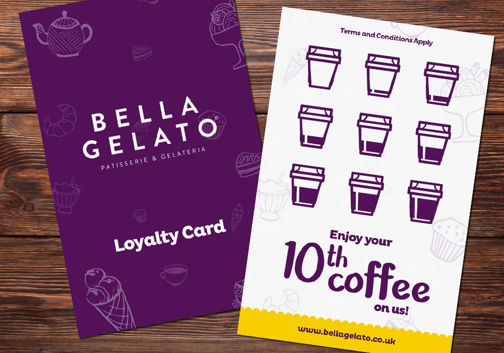 Bella Gelato - Loyalty Card Design Essex