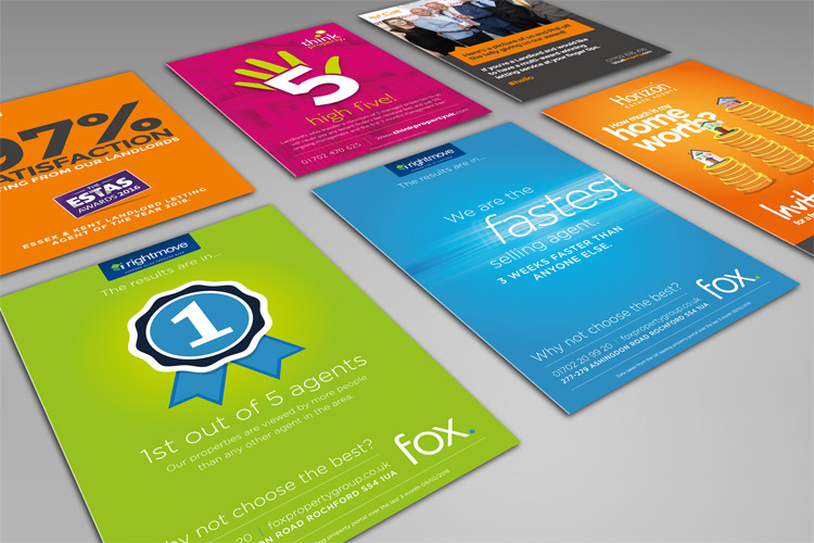 Estate Agents - Leaflets and Flyer Designs Essex