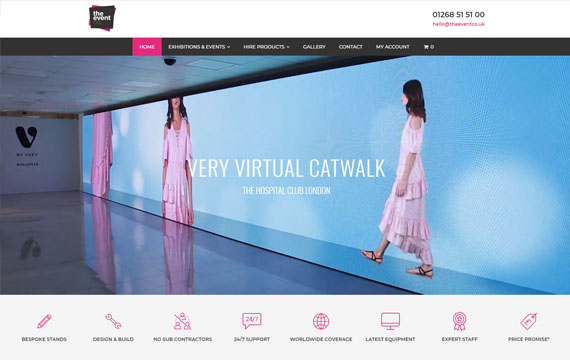 The Event Co - Ecommerce Website Design Essex
